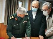 یادداشت سرلشگر باقری در دفتر یادبود نیروی دریایی روسیه/عکس