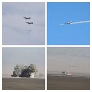 انهدام اهداف دشمن با بمب «یاسین ۹۰»/ تمرین رهگیری هوایی در ارتفاع پست