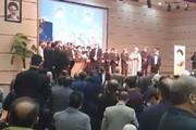 ببینید | واکنش استاندار جدید آذربایجان شرقی به سیلی که در مراسم معارفه خورد
