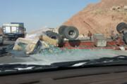 ببینید | تصادف هولناک تریلی حامل چندین دستگاه پژو پارس در شیراز