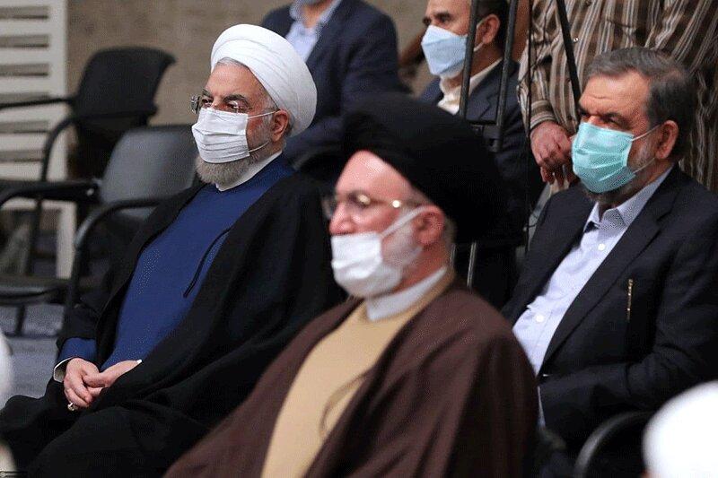تصاویر   حضور حسن روحانی و اسحاق جهانگیری در دیدار با رهبر انقلاب