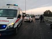 حادثه تصادف زنجیره ای البرز یک کشته و ۲۲ مصدوم داشت