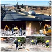 عملیات تخریب و جمع آوری پل ورودی جاده قدیم پرند پایان یافت / بازگشایی مسیر در کمتراز۲۰ ساعت