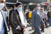 تصاویر   حضور سرزده رئیس جمهور در جایگاه توزیع سوخت میدان فردوسی تهران